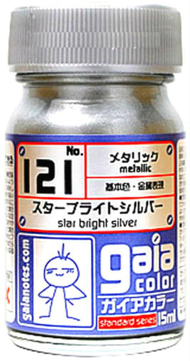Gaia Metallic Color 121 Star Bright Silver 15ML