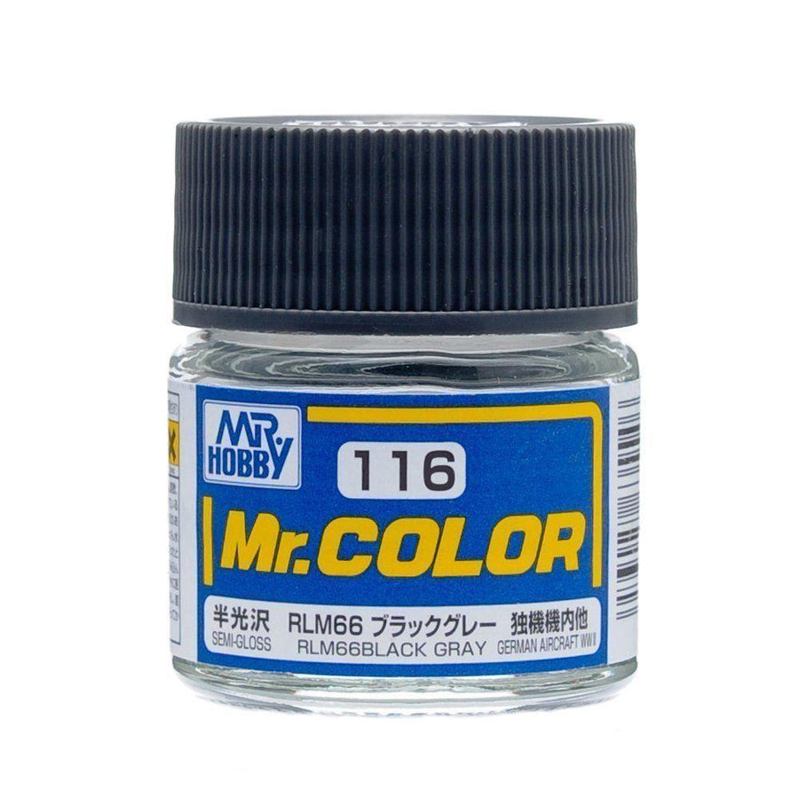 GNZ-C116: C116 Semi Gloss RLM66 Black Gray 10ml