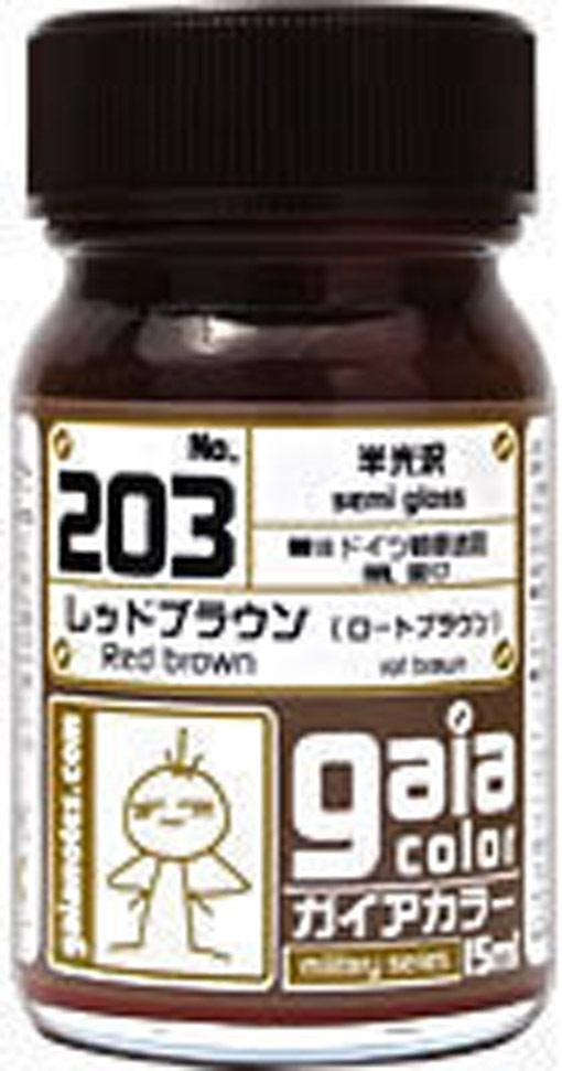 Gaia Military Color 203 Red Brown 15ML