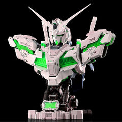 KNL HOBBY Gundam 1/35 RX-0 Unicorn Bust NT-D System full psycho-frame prototype M-S LED Lighting Green