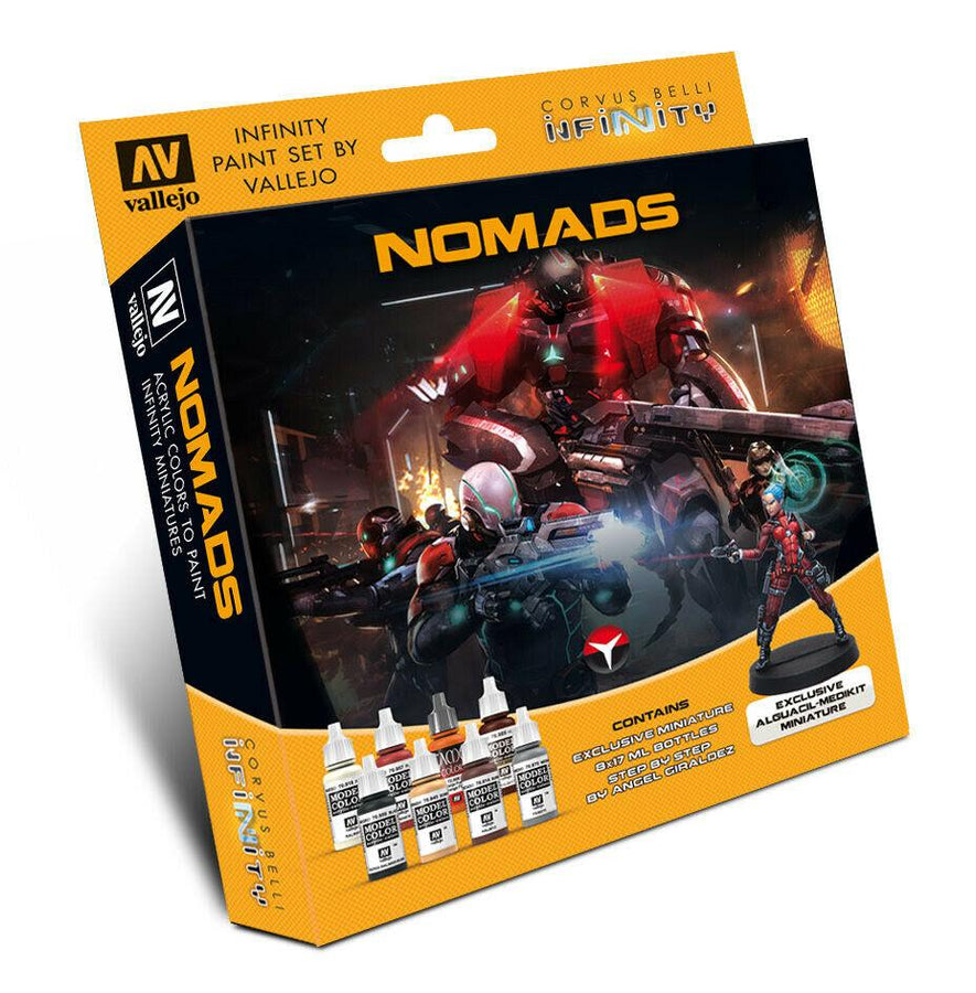 Vallejo Infinity Nomad Paint Set w/ Miniature VAL70233