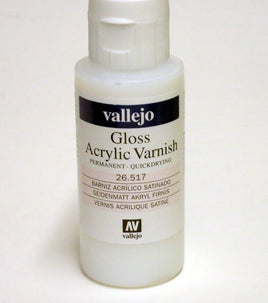 Vallejo GLOSS Acrylic Varnish 2oz / 60ml 26.517 26517 UV Restistant Clear Coat
