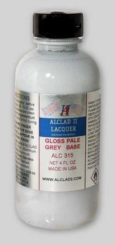 GLOSS PALE GREY BASE - 4 oz. Alclad II Airbrush Lacquer #315