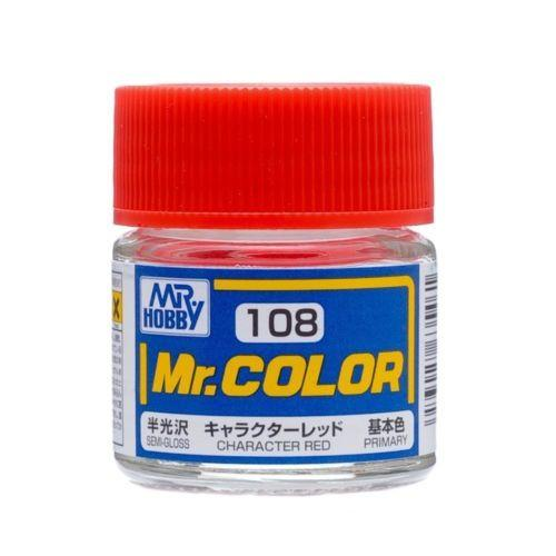 GNZ-C108: C108 Semi Gloss Character Red 10ml