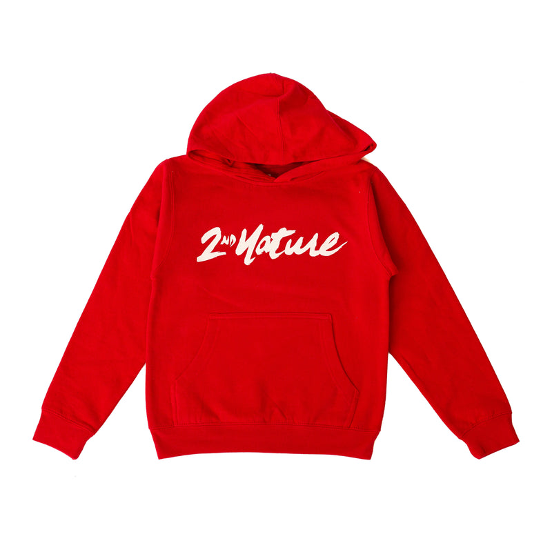 2nd Nature OG Logo Youth Hoodie (Red)