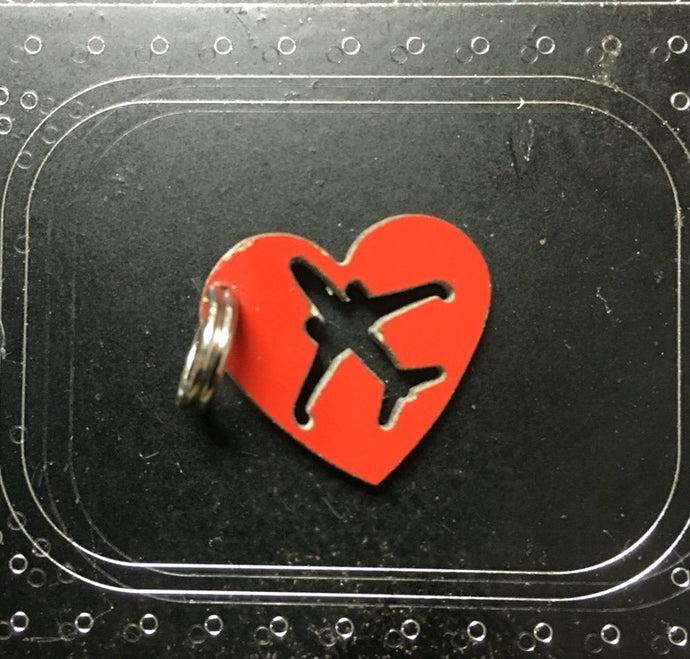 Southwest Airlines Boeing 737 Fuselage Heart with Aircraft Charm