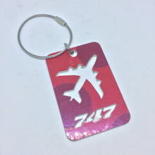 Former Virgin Atlantic Lady Penelope B747 luggage tag