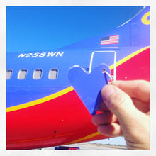 Southwest Airlines Boeing 737 Fuselage Heart