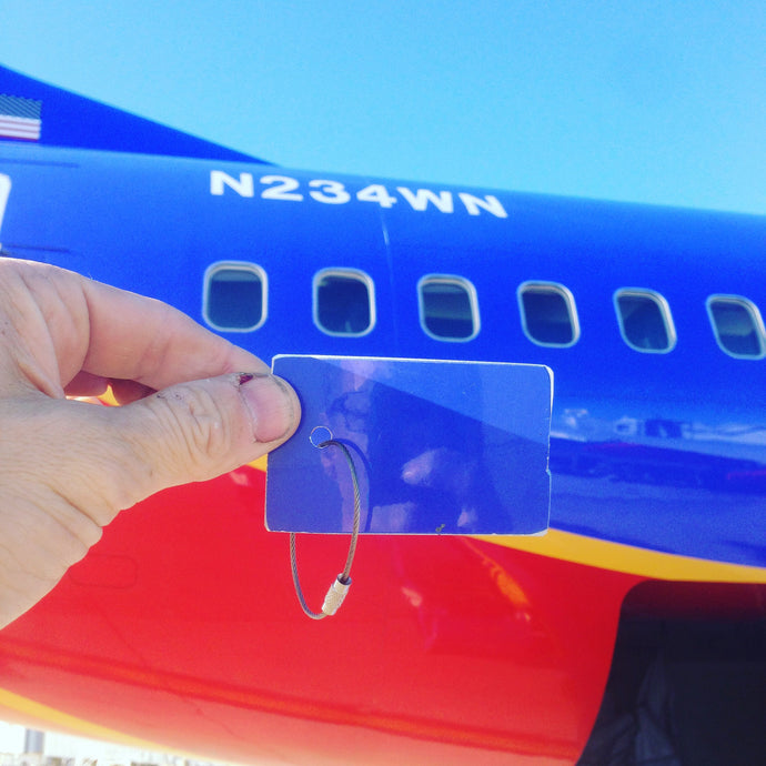 Southwest Airlines Boeing 737 Fuselage Rectangle Keychain or Luggage Tag