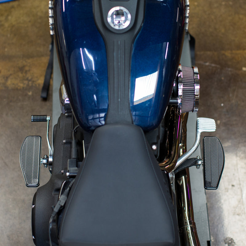 Mini Floorboards - Black - Dyna, Sportster, FXR, Softail...