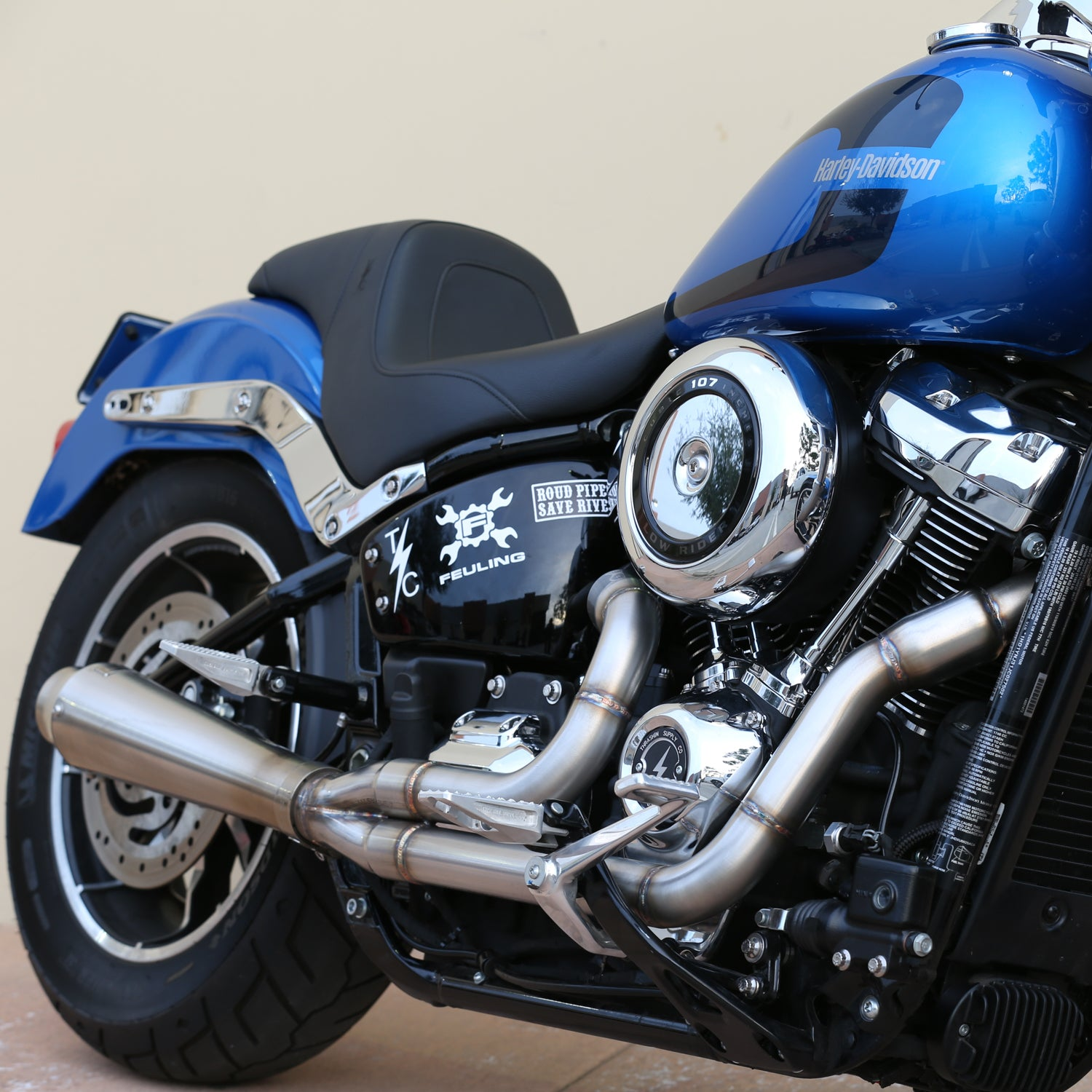 THRASHIN Anti-Reversion Exhaust System - M8 Softail