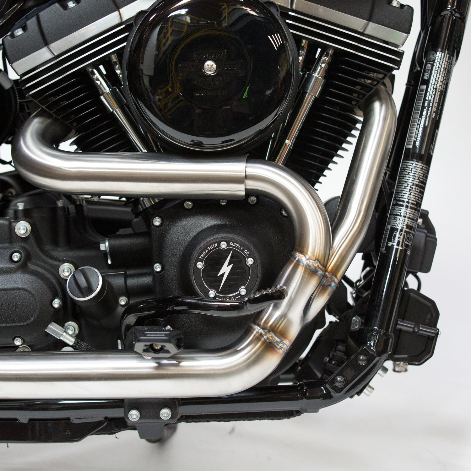 OG Stainless Exhaust w/ Removable Baffle & End Cap FXR
