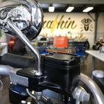 Polished Dished Front Brake Reservoir - Dyna, Softail, and Bagger