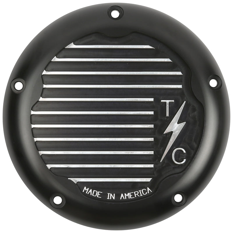 Finned 5 Hole Derby Cover - M8 Bagger