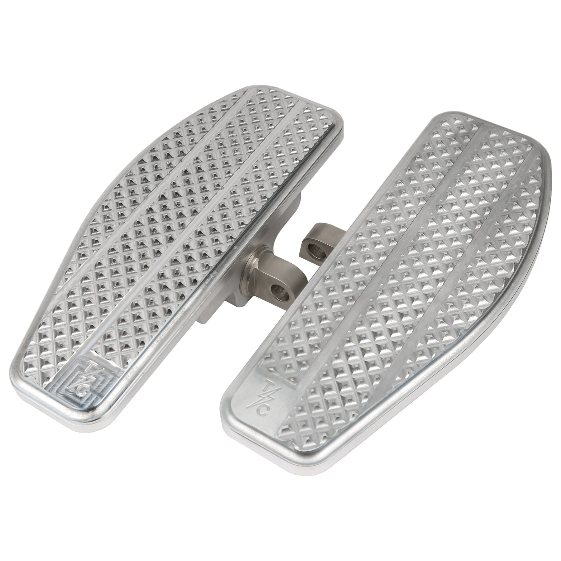 Mini Floorboards - Silver - Dyna, Sportster, FXR, Softail...