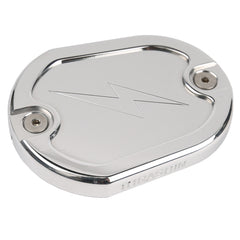 Polished Dished Front Brake Reservoir Cap - Sportster