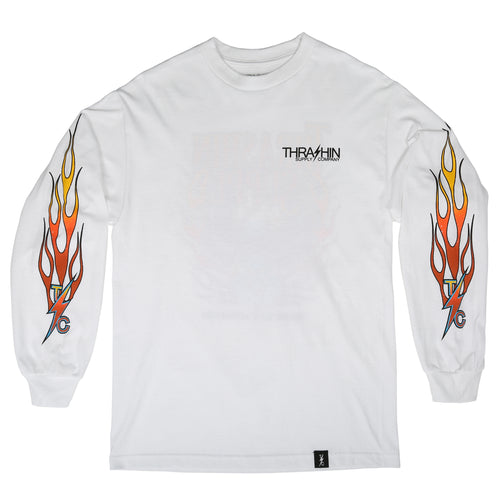 The Flame Long Sleeve - White