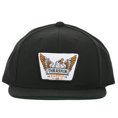 Americana Snapback - Black (white patch)