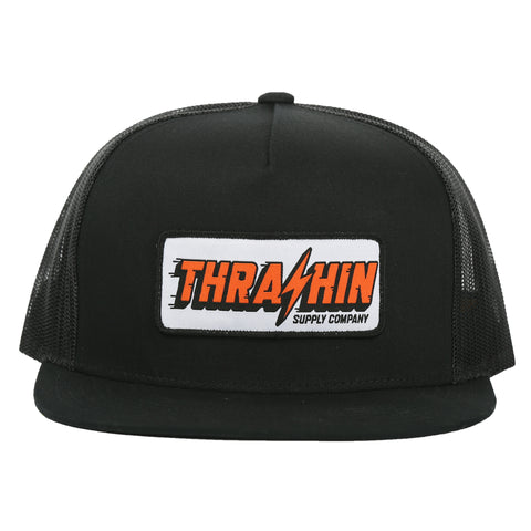 Speedway Trucker - Black/Black (orange patch)