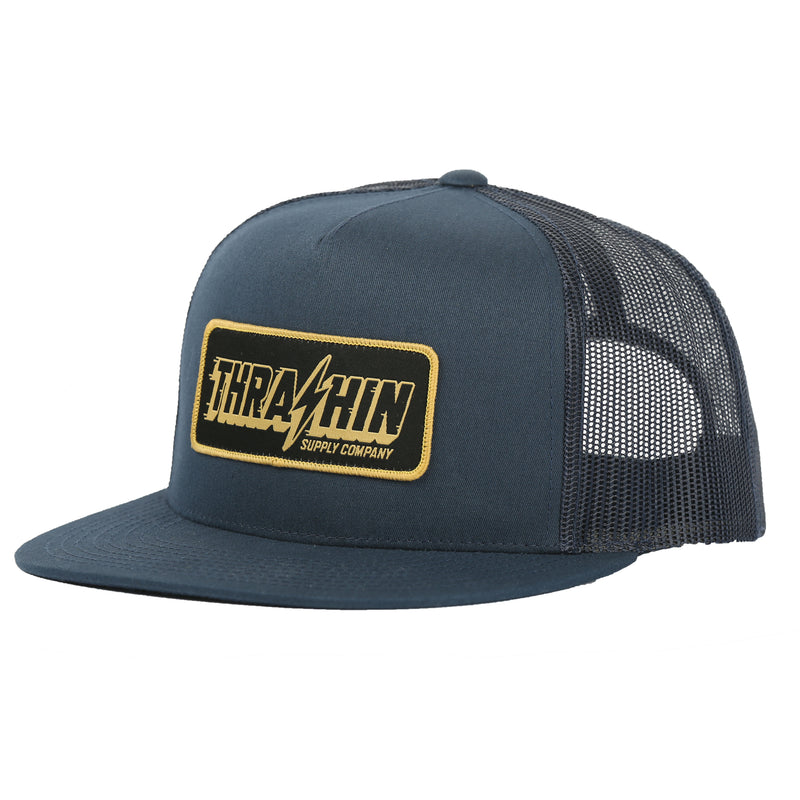 Speedway Trucker - Navy/Navy (gold patch)