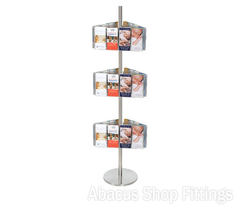 BROCHURE CAROUSEL - 36 DL HOLDERS ON STAINLESS STEEL CAROUSEL