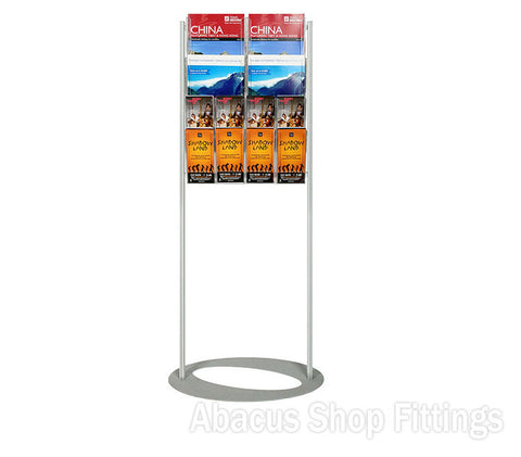 BROCHURE FOYER - 4 A4 + 8 DL HOLDERS SMALL LOBBY STAND