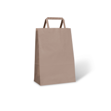 FLAT FOLD HANDLE BAGS #40 BROWN CTN/500