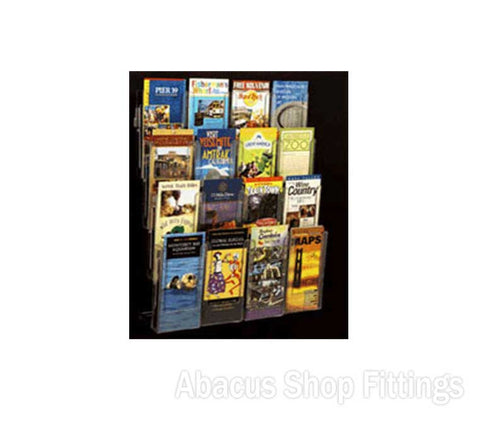 BROCHURE WALL DISPLAY - 16 DL HOLDERS