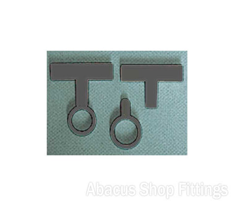 PLASTIC FRAME TUBE CLIP SET - BLACK