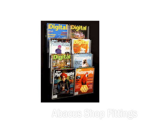 BROCHURE WALL DISPLAY - 8 A4 HOLDERS