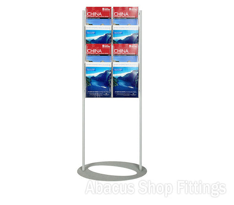 BROCHURE FOYER - 8 A4 HOLDERS SMALL LOBBY STAND