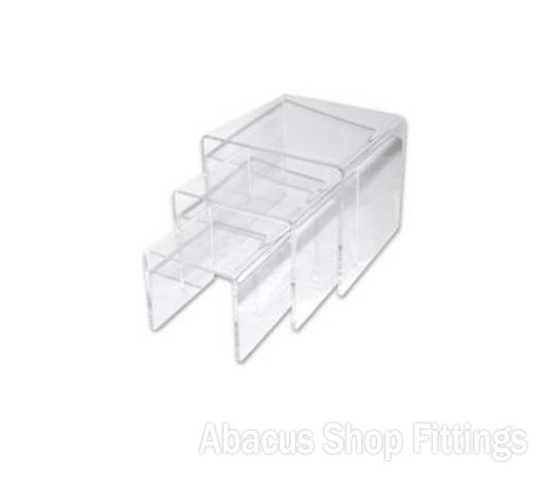 ACRYLIC RISERS SQUARE - SET OF 4