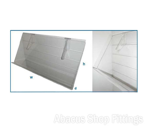 Acrylic Sloping Shelf 565