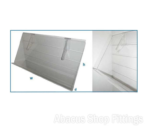 Acrylic Sloping Shelf 1200