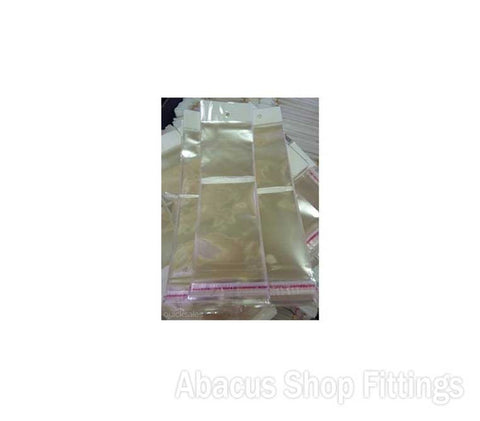 CELLOPHANE BAG 100MM X 150MM HANG Pkt/100