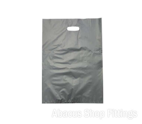 HDPE PLASTIC BAG LARGE - SILVER Pkt/100