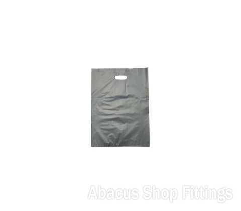 HDPE PLASTIC BAG SMALL - SILVER Pkt/100