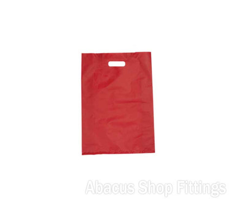 HDPE PLASTIC BAG MEDIUM - RED Pkt/100
