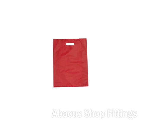 HDPE PLASTIC BAG SMALL - RED Pkt/100