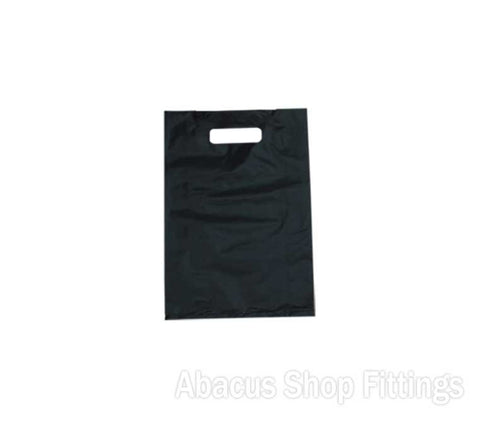 HDPE PLASTIC BAG MEDIUM - BLACK Pkt/100