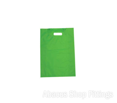 HDPE PLASTIC BAG MEDIUM - LIME Pkt/100