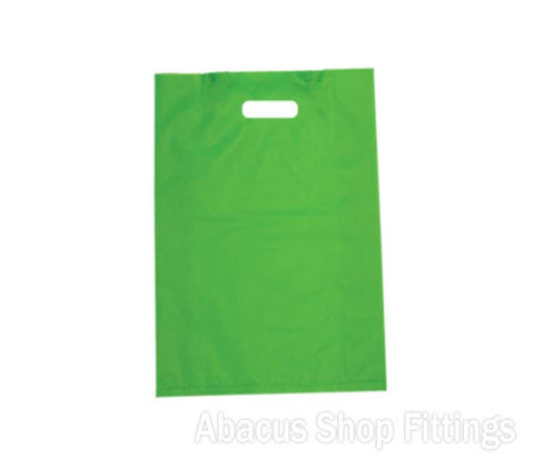 HDPE PLASTIC BAG LARGE - LIME Pkt/100