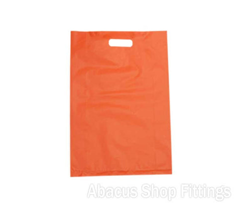 HDPE PLASTIC BAG LARGE - ORANGE Pkt/100