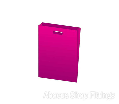 HDPE PLASTIC BAG SMALL - HOT PINK Pkt/100