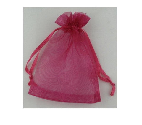 ORGANZA BAG 12x18CM HOT PINK PKT/10