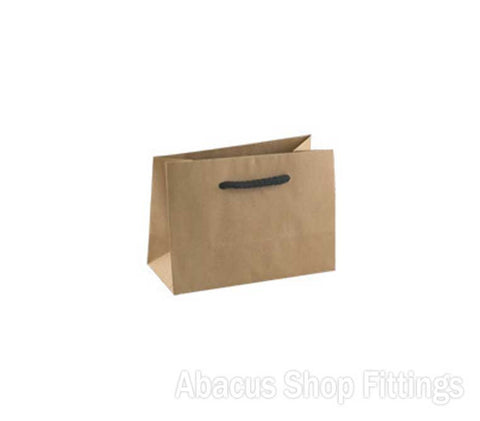KRAFT DELUX MINI BROWN PAPER BAG Pkt/50