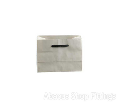 KRAFT DELUX MINI WHITE PAPER BAG Pkt/50