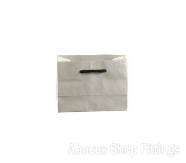 KRAFT DELUX MINI WHITE PAPER BAG Pkt/100