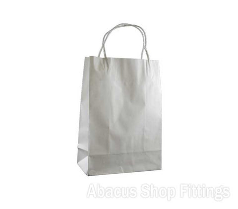 KRAFT PAPER BAG WHITE - JUNIOR Pkt/50