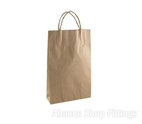 KRAFT PAPER BAG BROWN - BABY Pkt/50